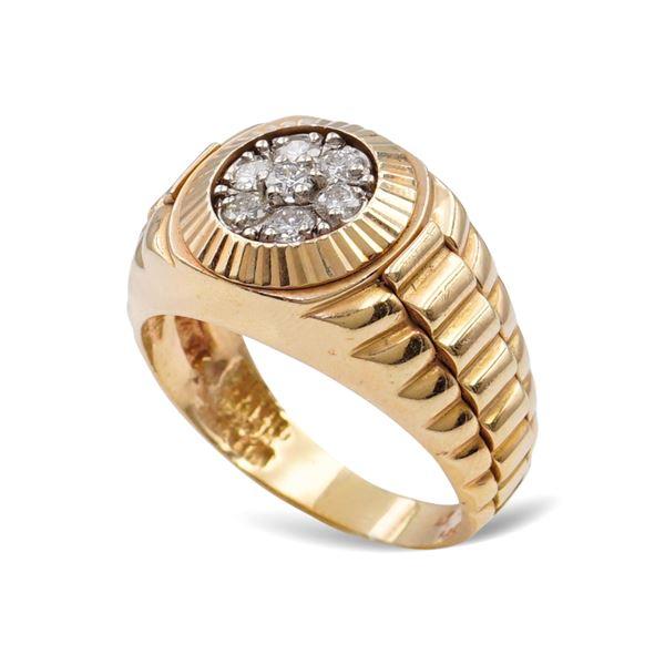 Anello Rolex uomo in oro rosa 18kt