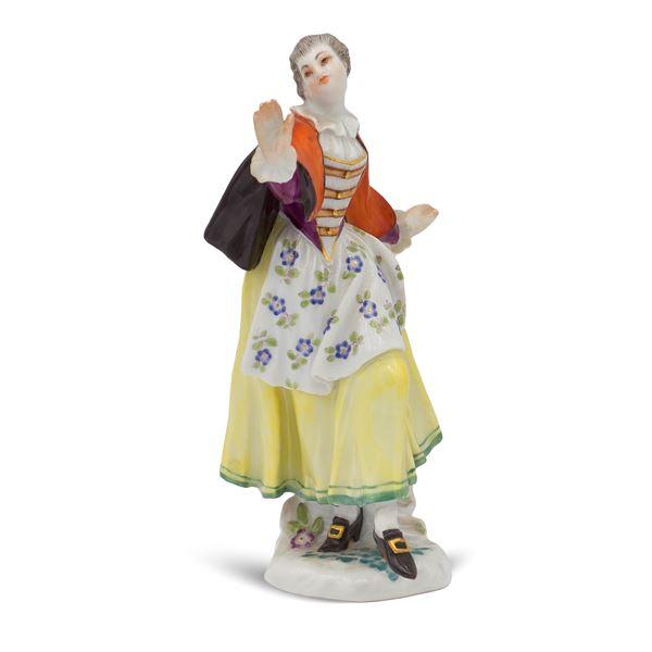 Meissen, figura in porcellana policroma