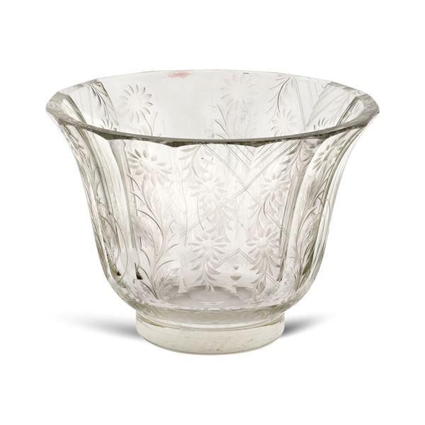 Vaso in cristallo molato