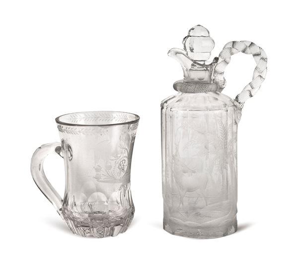 Gruppo di oggetti in cristallo molato (2)