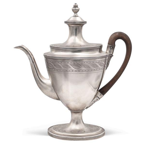 Caffettiera in argento, Giorgio III
