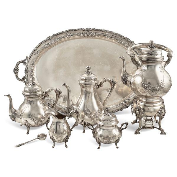 Servizio da the e caffè in argento (6)