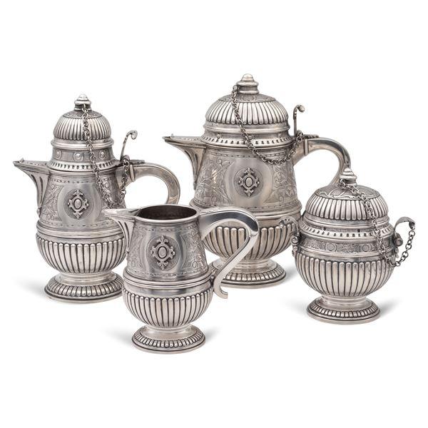 Servizio da the e caffè in argento (4)