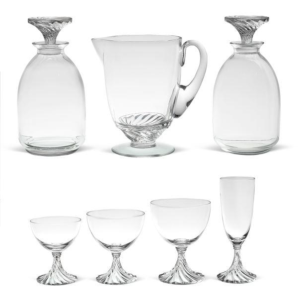 Lalique, servizio di bicchieri in cristallo (43)