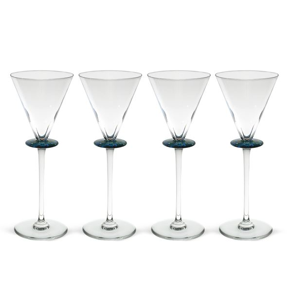 Hermés, set di bicchieri da cocktail in cristallo (4)