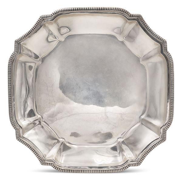 Vassoio sagomato in argento