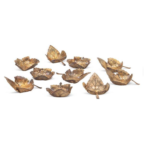 Set di saliere in argento vermeil (10)