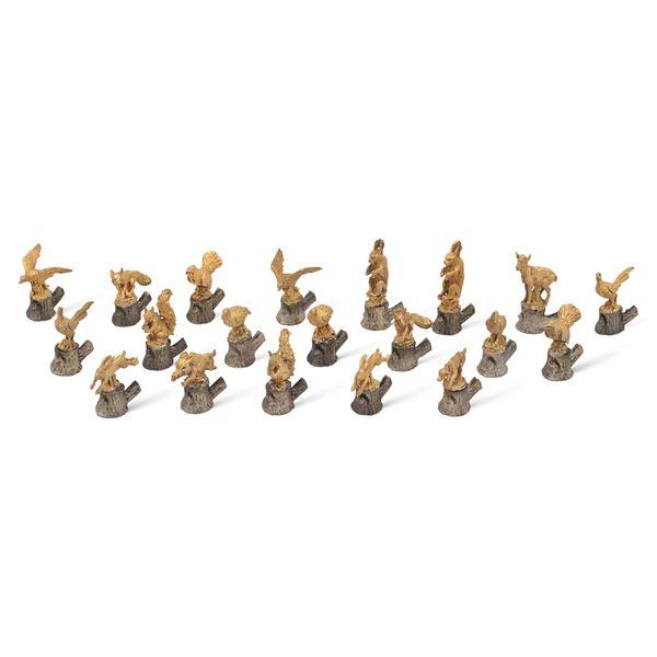 Set di segnaposto in metallo argentato e dorato (20)