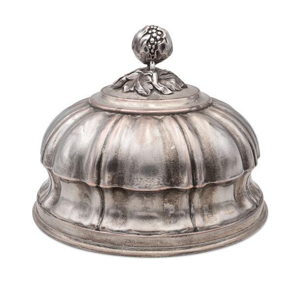 Cloche in metallo argentato
