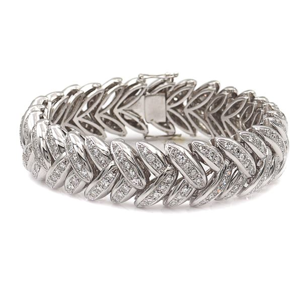 Bracciale in oro bianco 18kt e diamanti