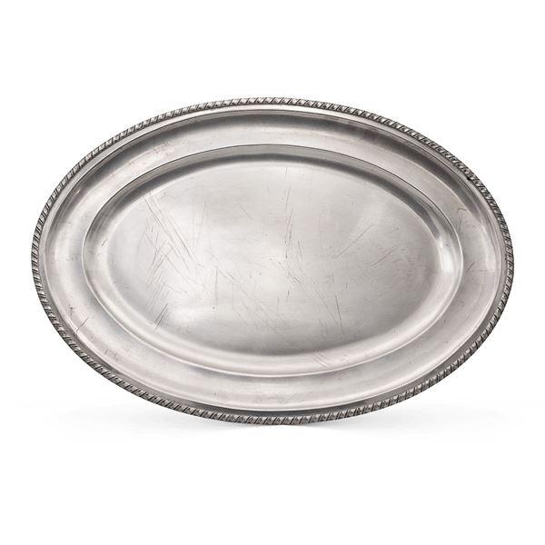 Vassoio ovale in argento