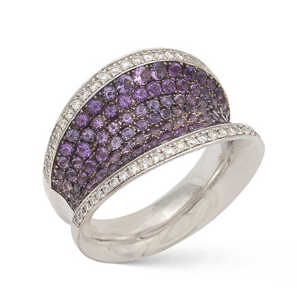 Chopard, anello in oro bianco 18kt