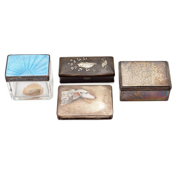 Gruppo di scatole in argento (4)