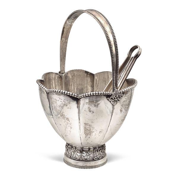 Secchiello portaghiaccio in argento