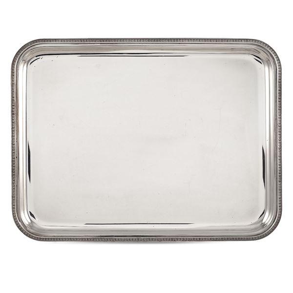 Vassoio rettangolare in argento