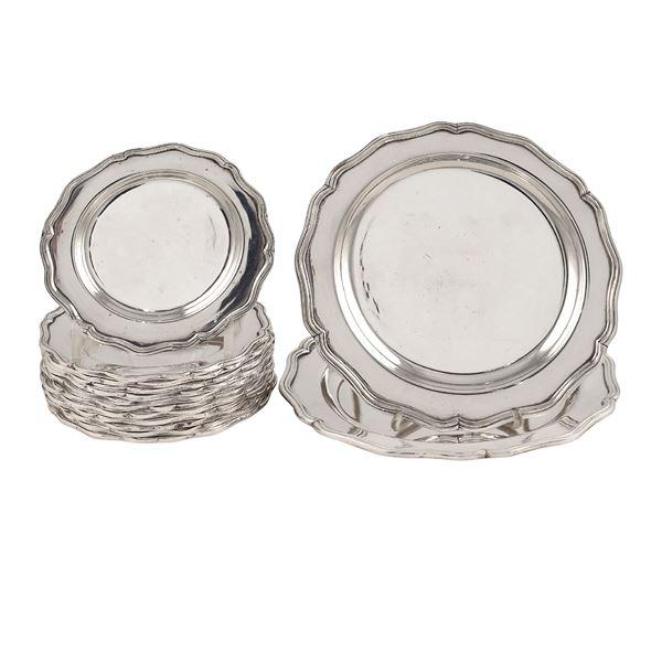 Set da tavola in metallo argentato (14)