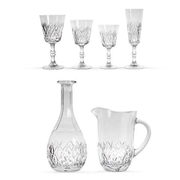 Candida Tupini, servizio di bicchieri in cristallo molato (42)