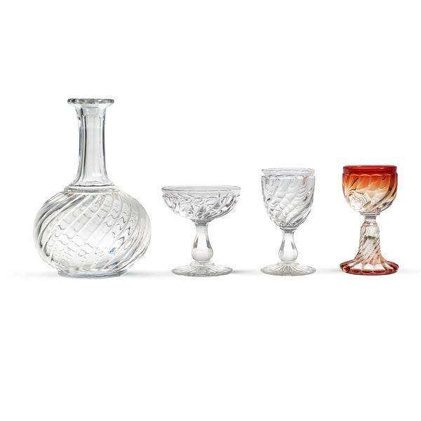 BACCARAT DÉPOSE, servizio da tavola in vetro trasparente e colorato