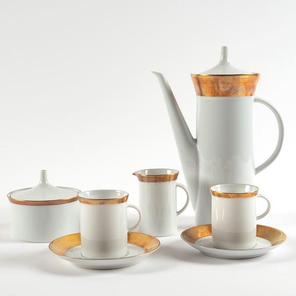 Rosenthal, servizio da caffè in porcellana bianco e oro (15)