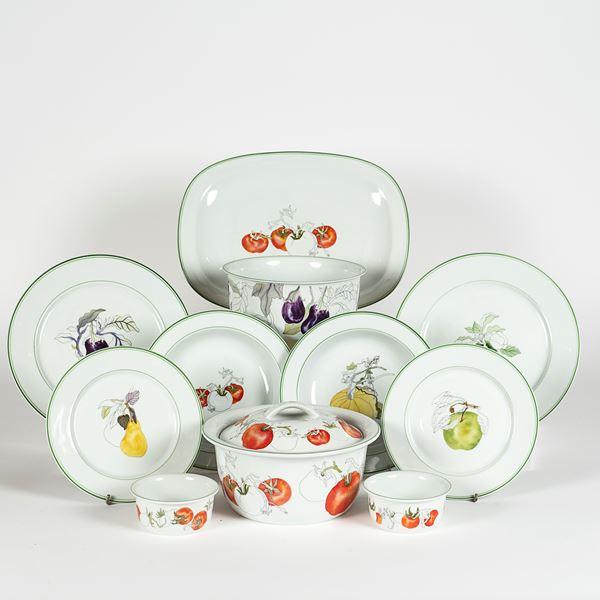 Mary Lou Goetzer, prod. Spal servizio di piatti in porcellana (78)